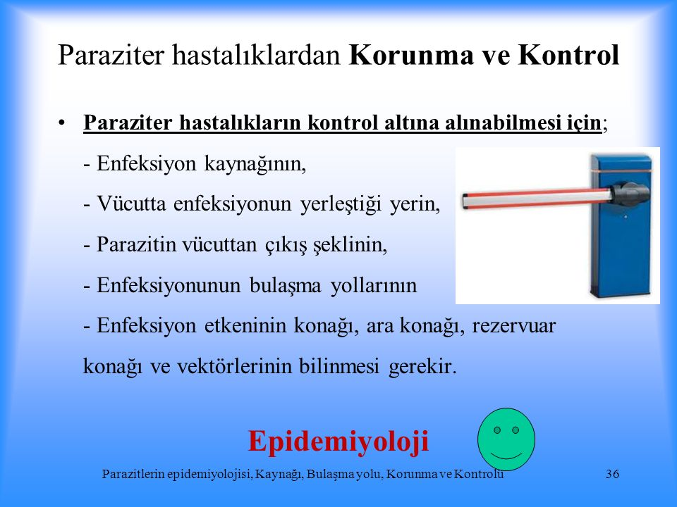 Paraziter hastalıklardan Korunma ve Kontrol