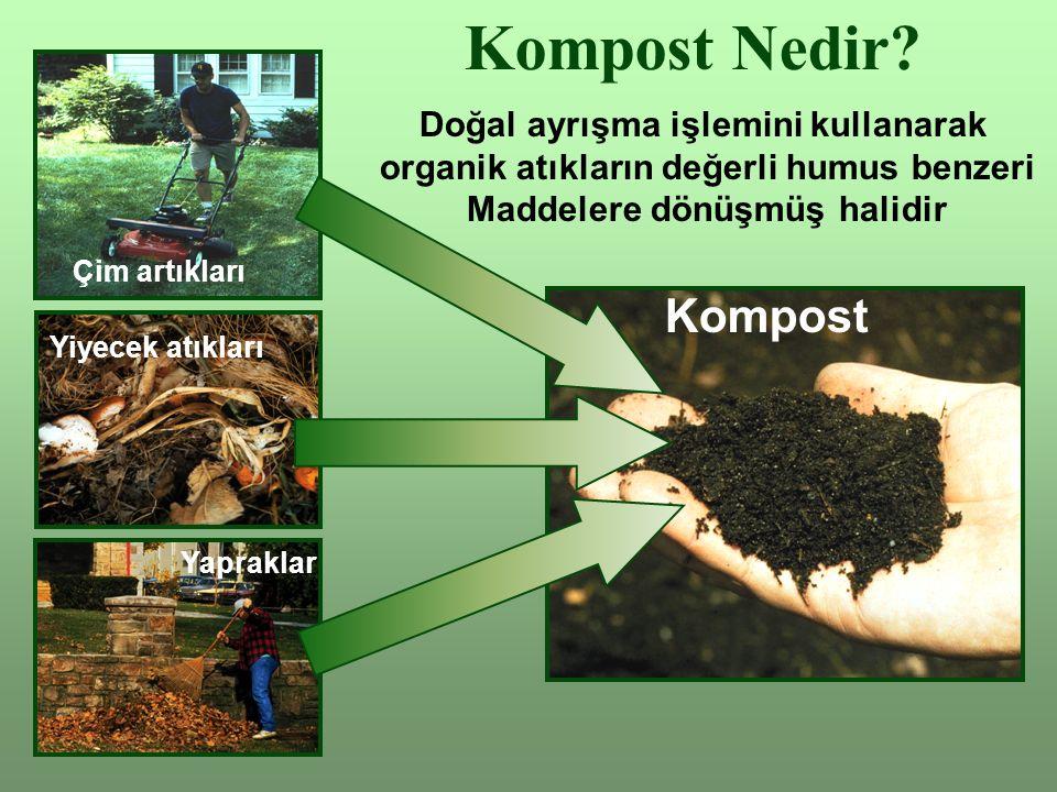 Kompost Nedir Kompost Doğal ayrışma işlemini kullanarak