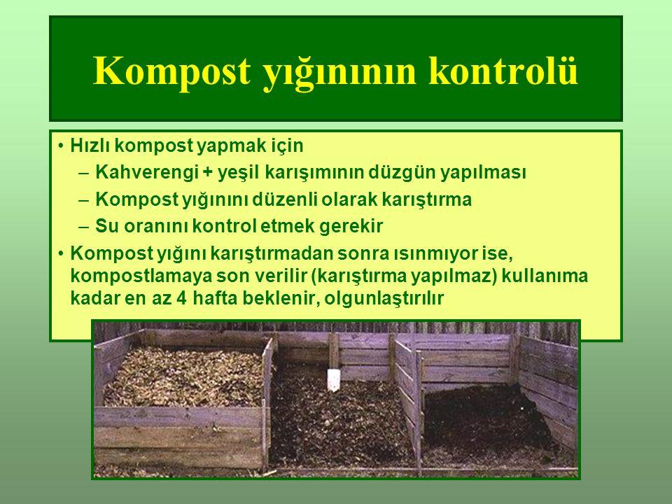 Kompost yığınının kontrolü