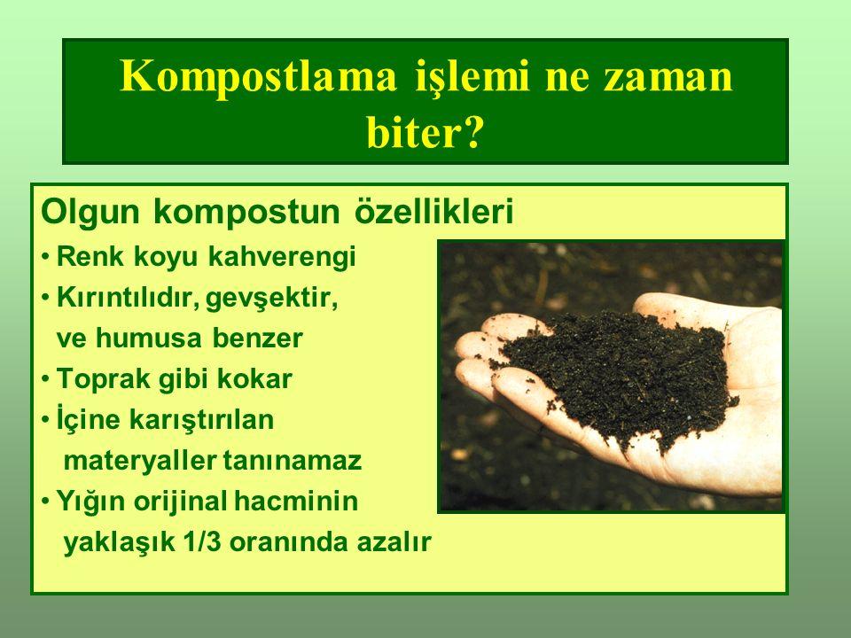 Kompostlama işlemi ne zaman biter