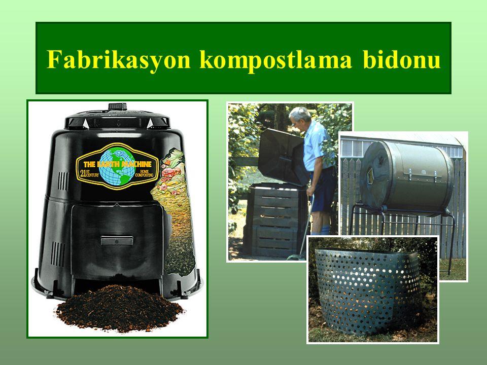 Fabrikasyon kompostlama bidonu