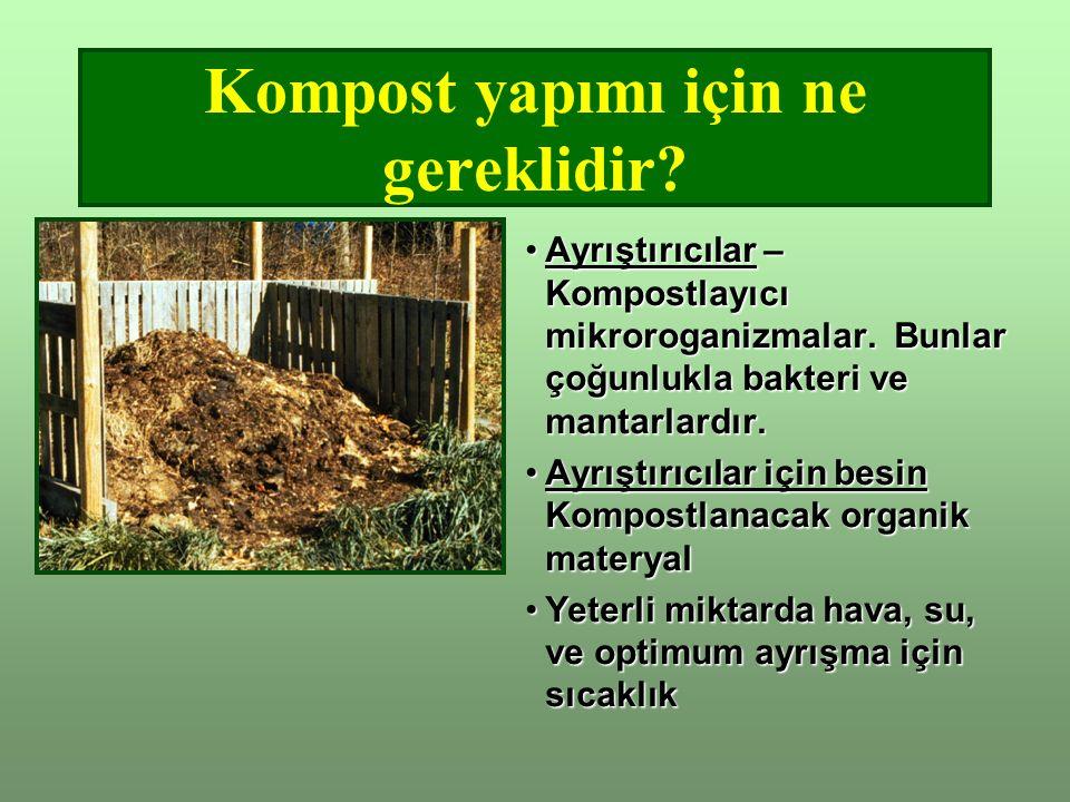 Kompost yapımı için ne gereklidir