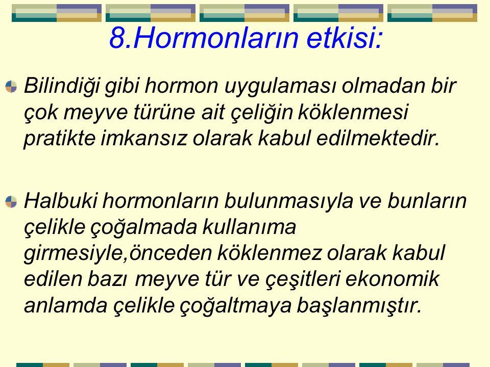 8.Hormonların etkisi: