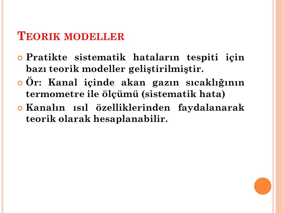Teorik modeller Pratikte sistematik hataların tespiti için bazı teorik modeller geliştirilmiştir.