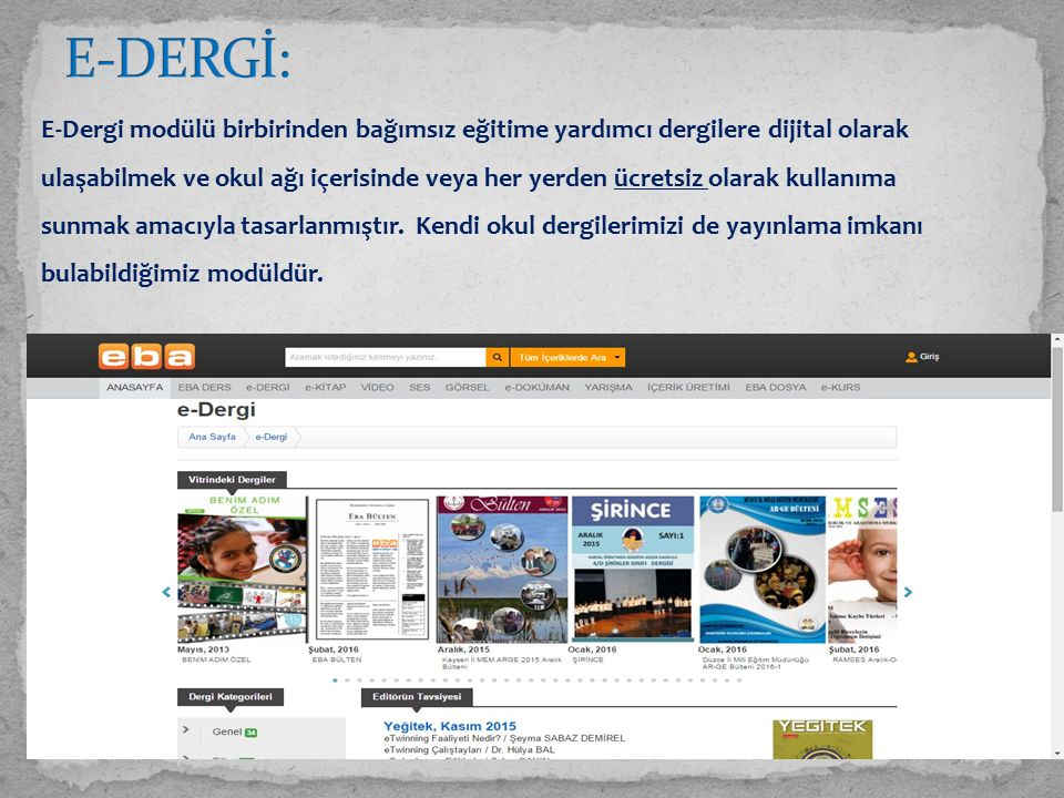 E-DERGİ: