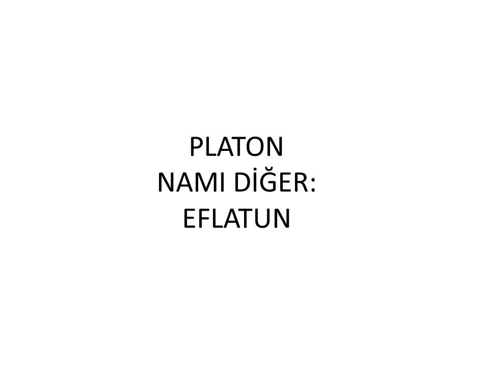 PLATON NAMI DİĞER: EFLATUN