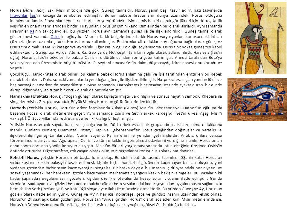 Horus (Haru, Hor), Eski Mısır mitolojisinde gök (Güneş) tanrısıdır