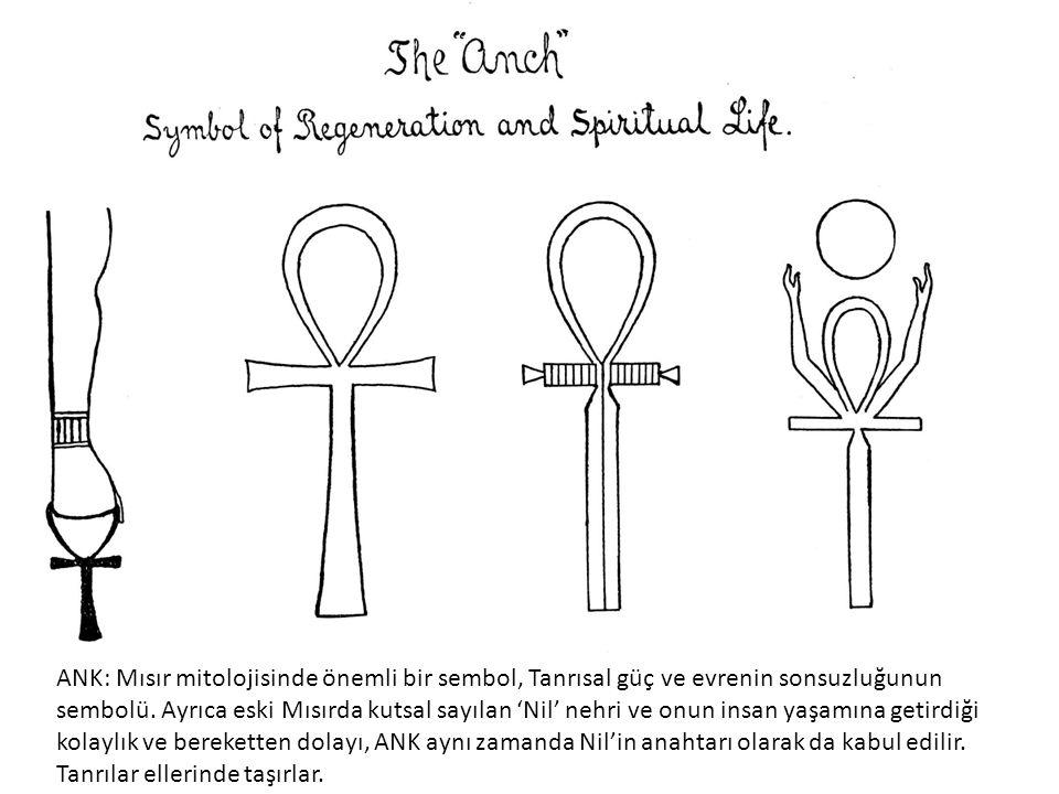 ANK: Mısır mitolojisinde önemli bir sembol, Tanrısal güç ve evrenin sonsuzluğunun sembolü.