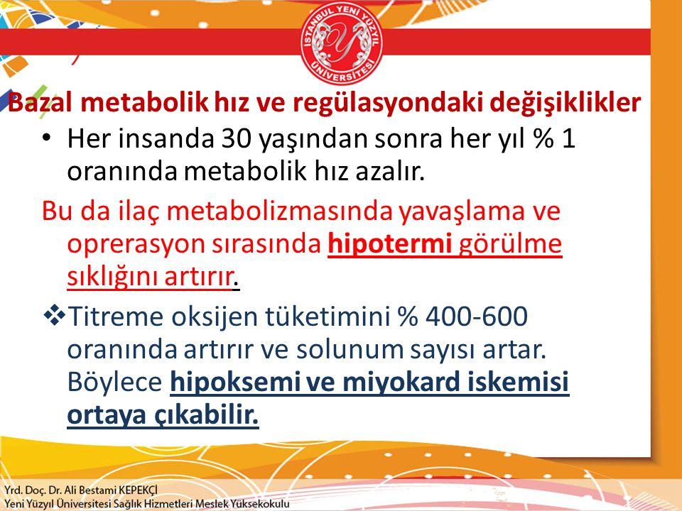 Bazal metabolik hız ve regülasyondaki değişiklikler