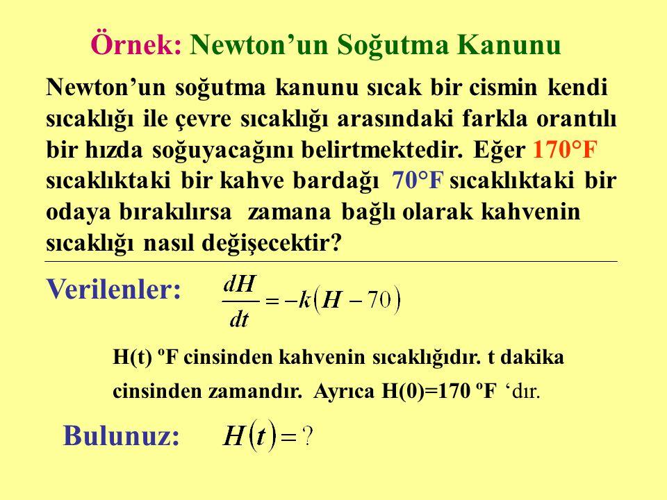 Örnek: Newton'un Soğutma Kanunu