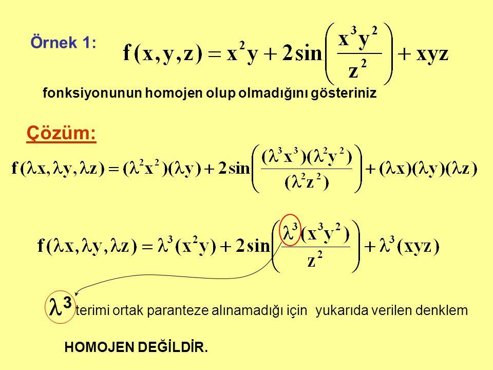 3 terimi ortak paranteze alınamadığı için yukarıda verilen denklem