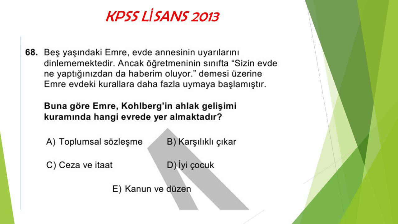KPSS LİSANS 2013