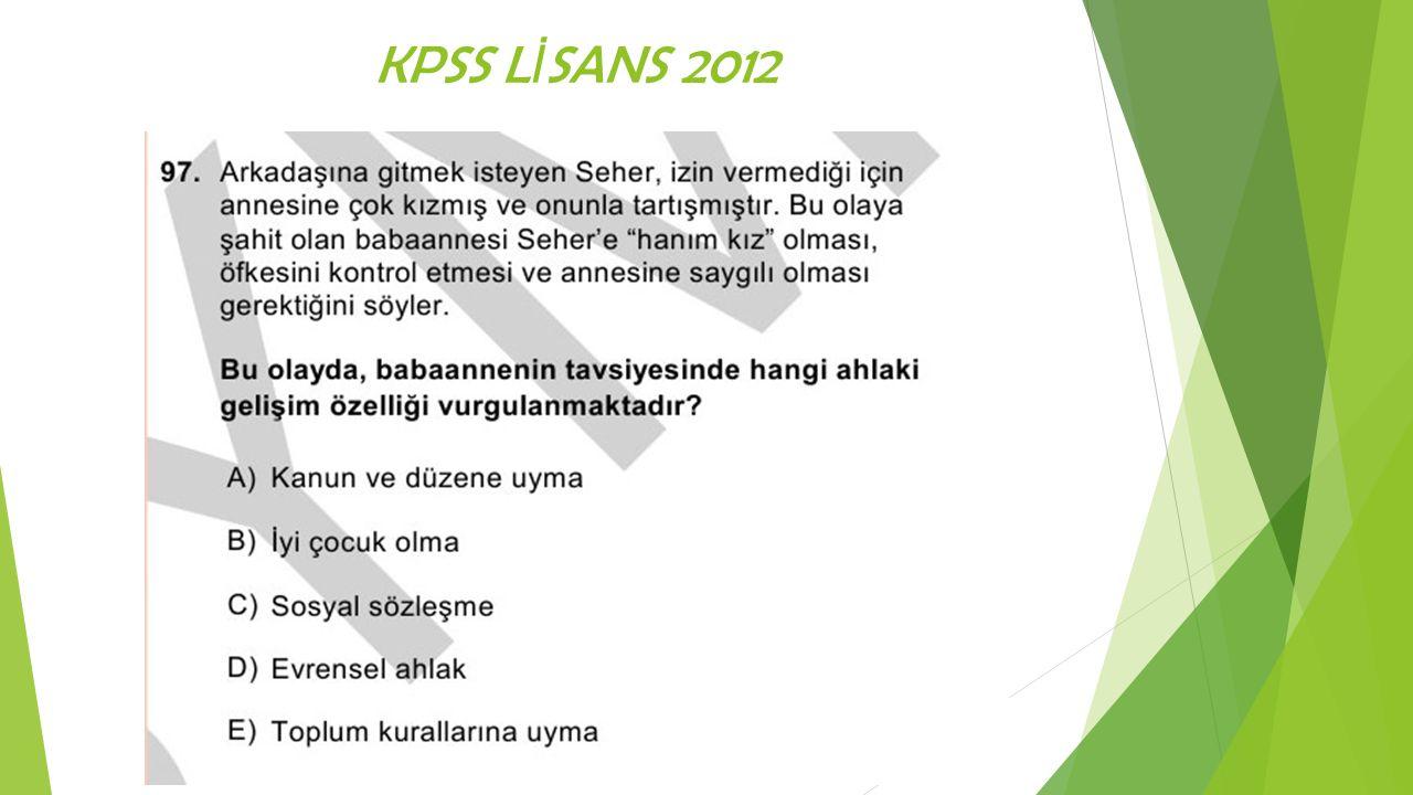 KPSS LİSANS 2012