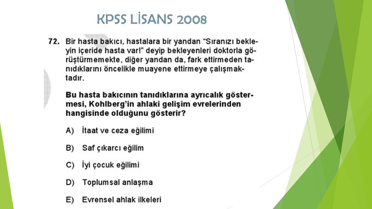 KPSS LİSANS 2008
