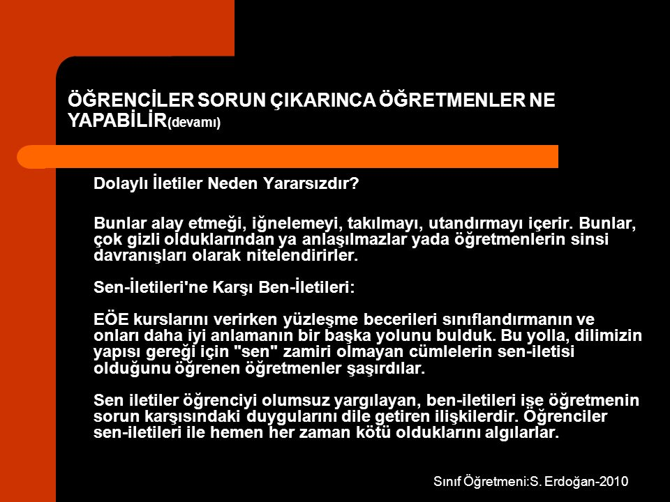 Sınıf Öğretmeni:S. Erdoğan-2010