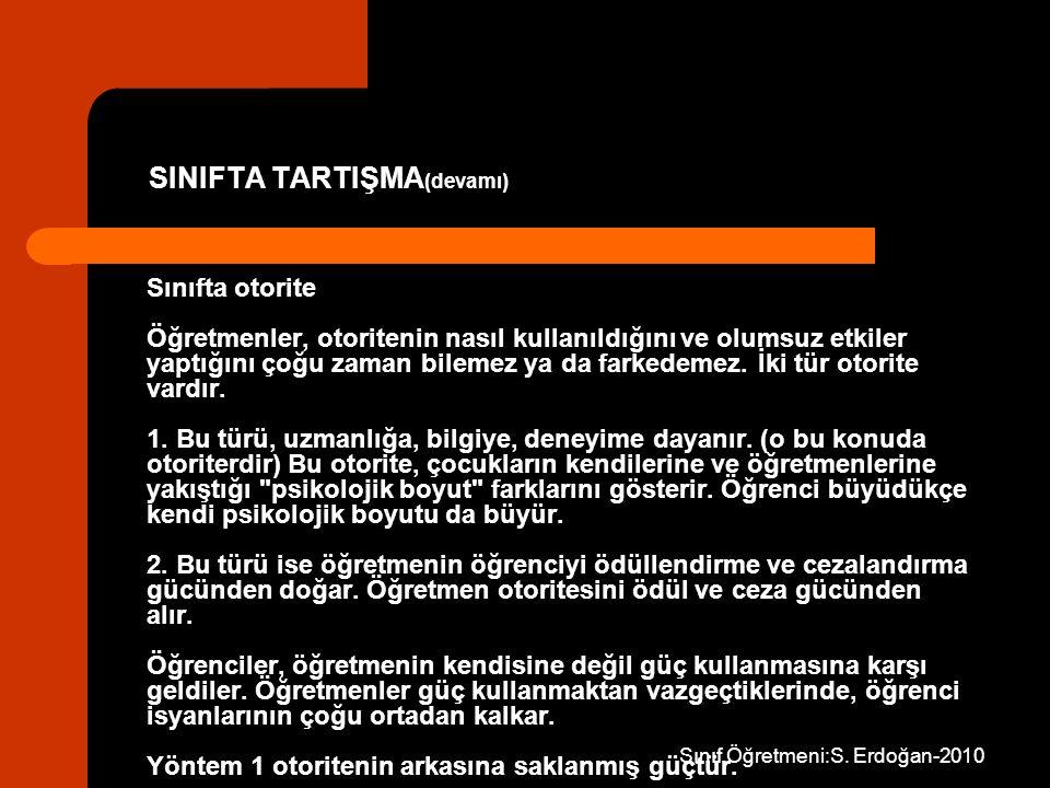 SINIFTA TARTIŞMA(devamı)