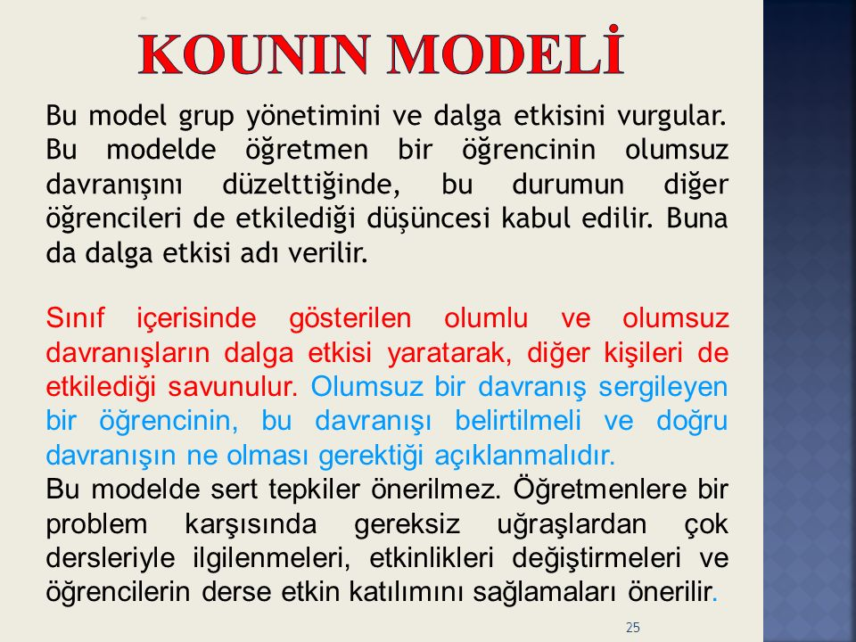 KOUNIN MODELİ