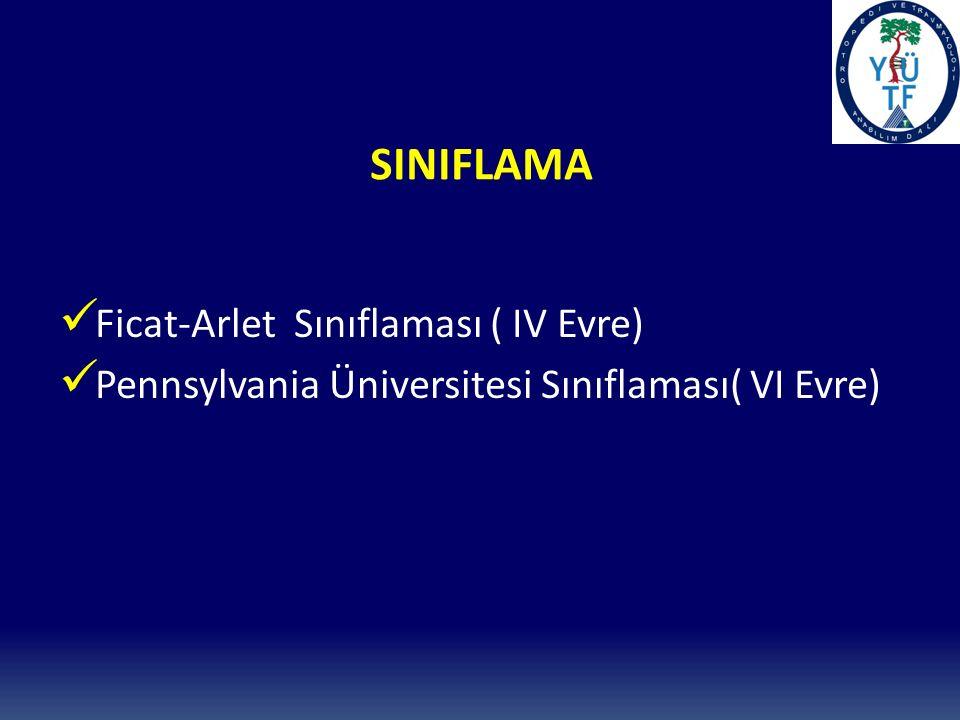 SINIFLAMA Ficat-Arlet Sınıflaması ( IV Evre)