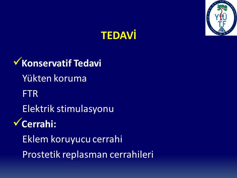TEDAVİ Konservatif Tedavi Yükten koruma FTR Elektrik stimulasyonu