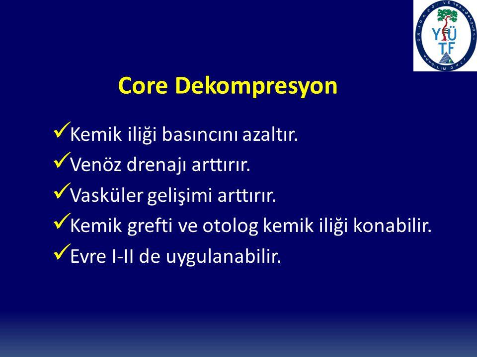 Core Dekompresyon Kemik iliği basıncını azaltır.