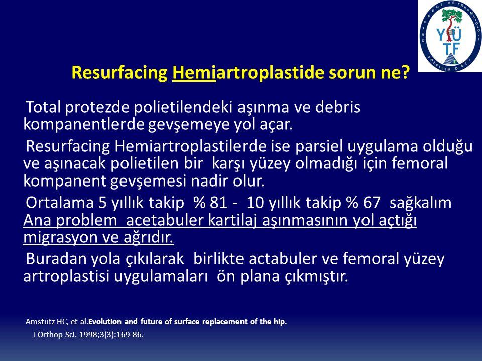 Resurfacing Hemiartroplastide sorun ne
