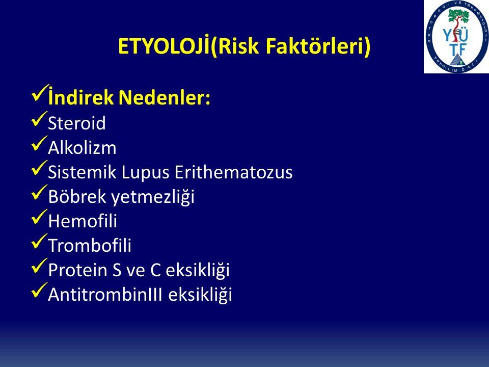 ETYOLOJİ(Risk Faktörleri)