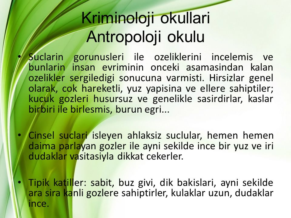 Kriminoloji okullari Antropoloji okulu