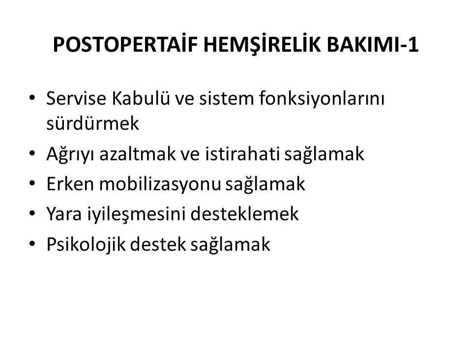 POSTOPERTAİF HEMŞİRELİK BAKIMI-1