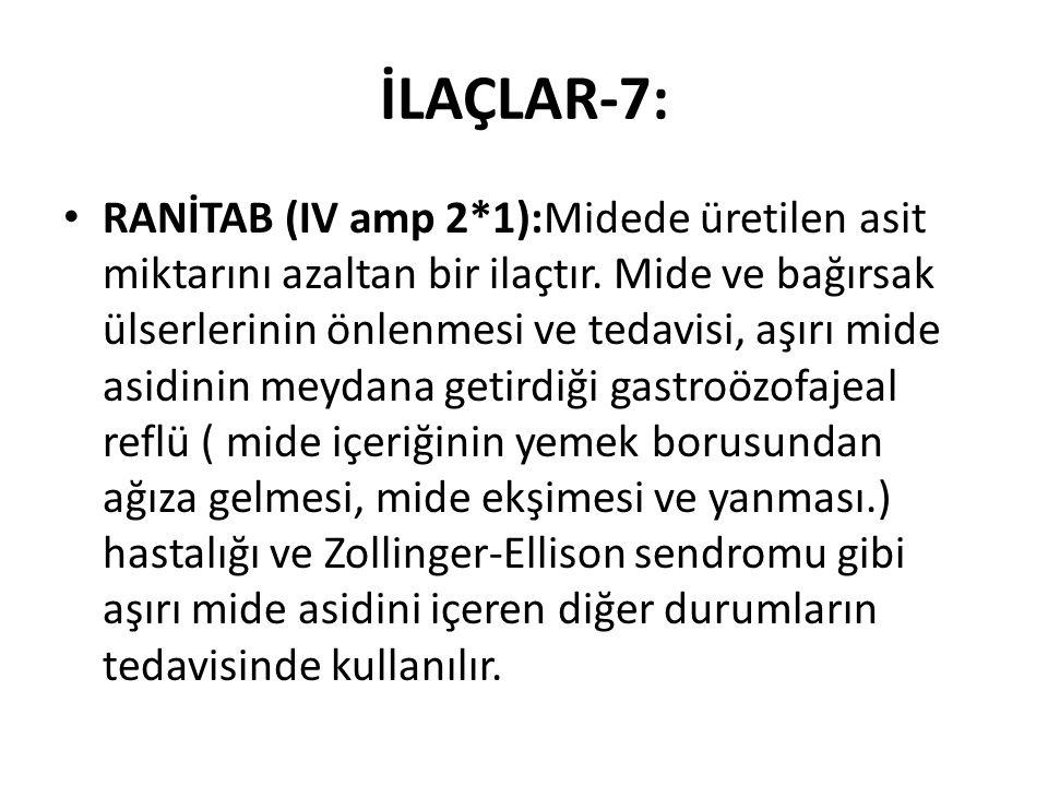 İLAÇLAR-7:
