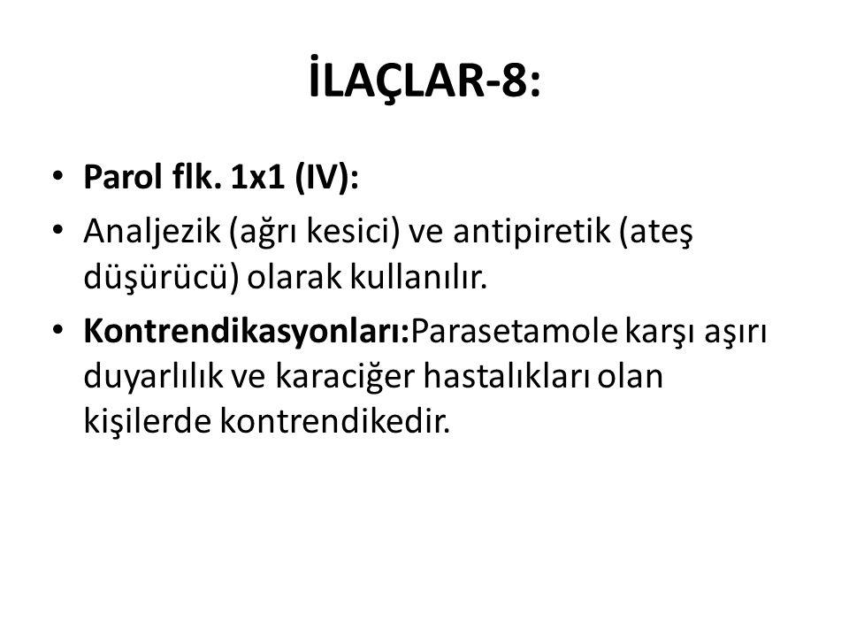 İLAÇLAR-8: Parol flk. 1x1 (IV):