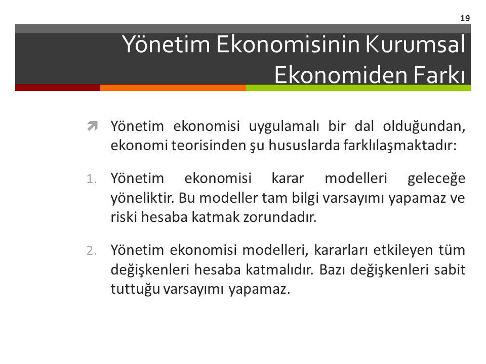 Yönetim Ekonomisinin Kurumsal Ekonomiden Farkı