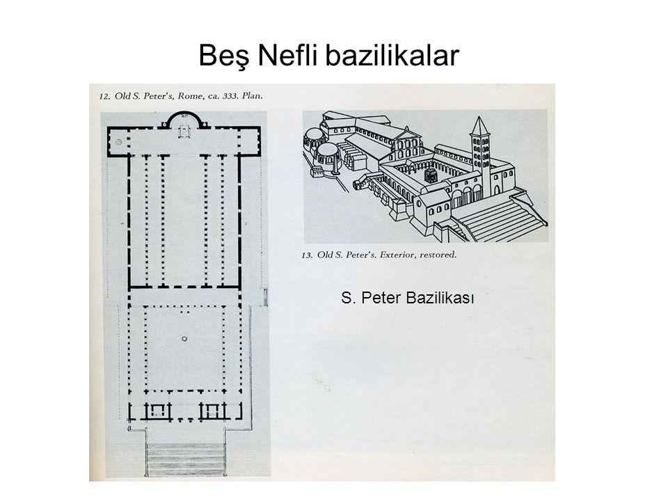 Beş Nefli bazilikalar S. Peter Bazilikası