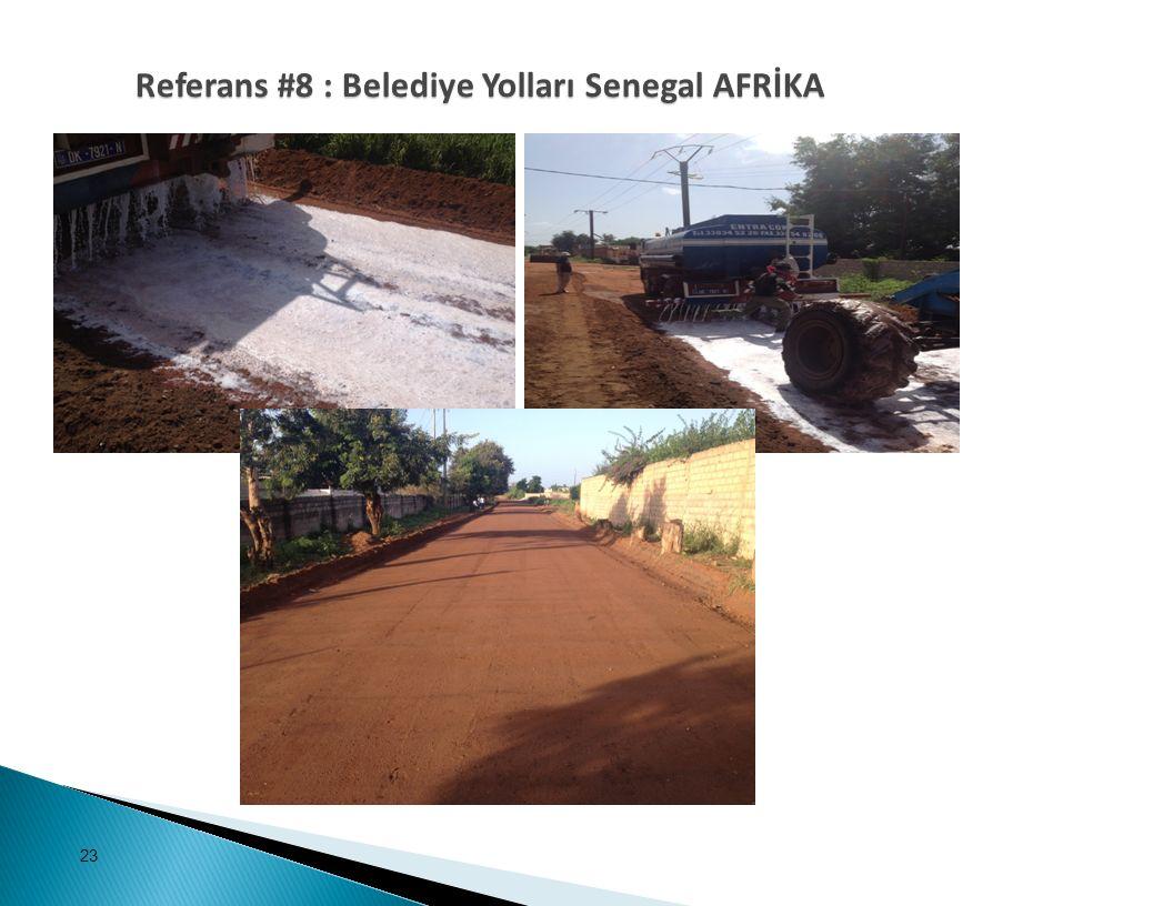 Referans #8 : Belediye Yolları Senegal AFRİKA