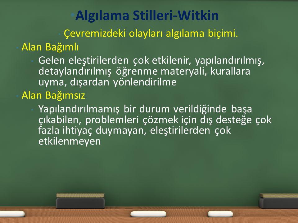 Algılama Stilleri-Witkin