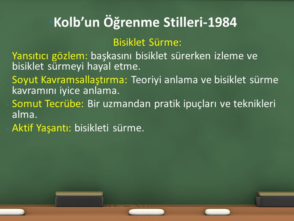 Kolb'un Öğrenme Stilleri-1984