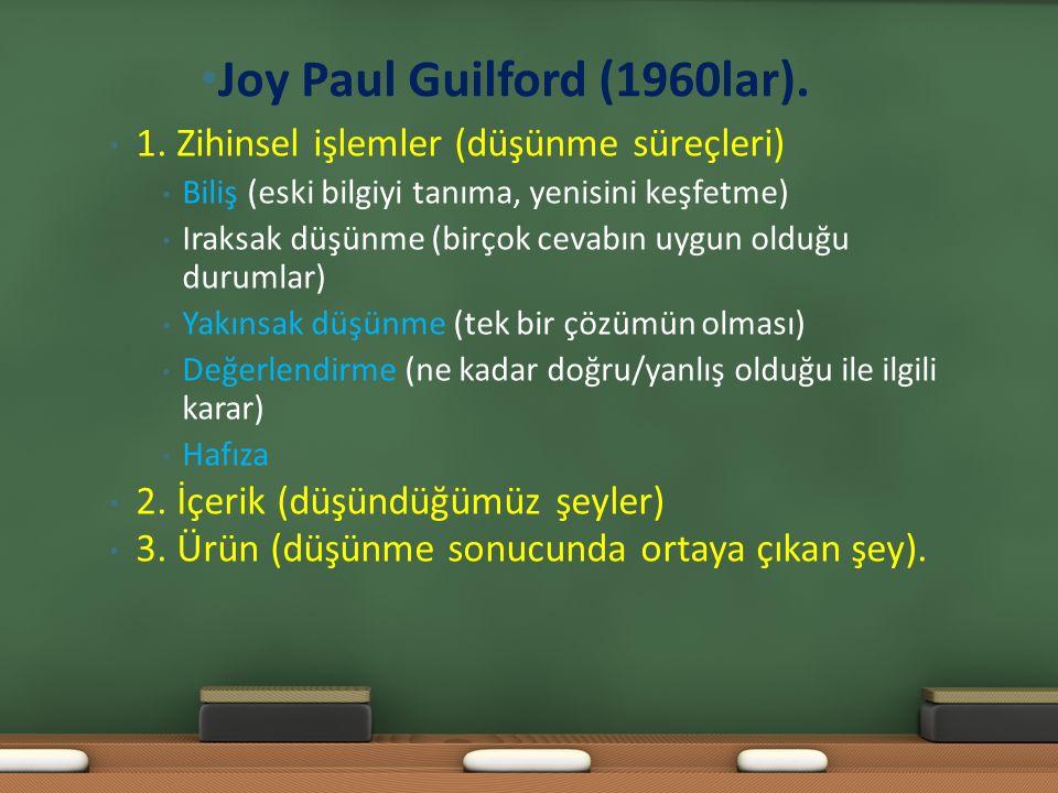 Joy Paul Guilford (1960lar).