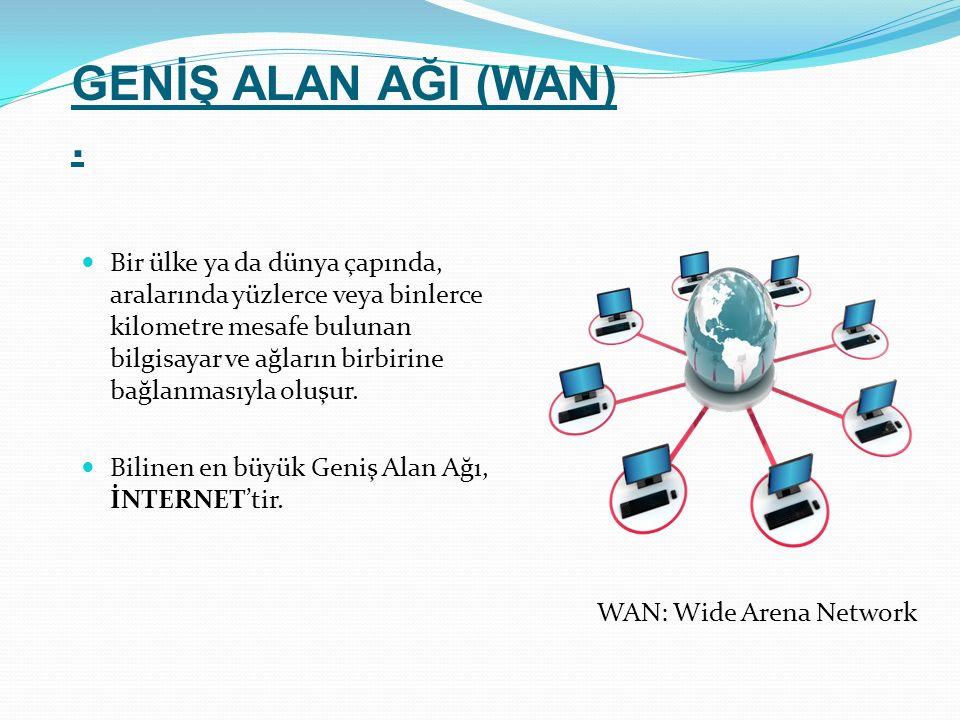 GENİŞ ALAN AĞI (WAN) .