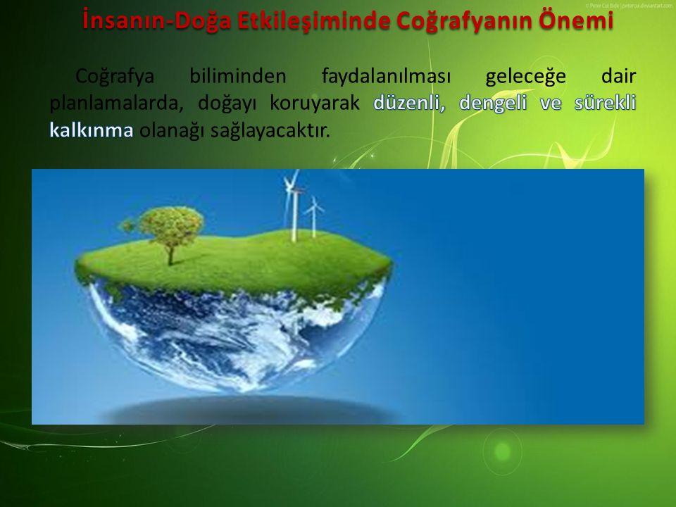 İnsanın-Doğa Etkileşiminde Coğrafyanın Önemi