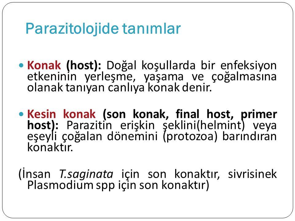 Parazitolojide tanımlar