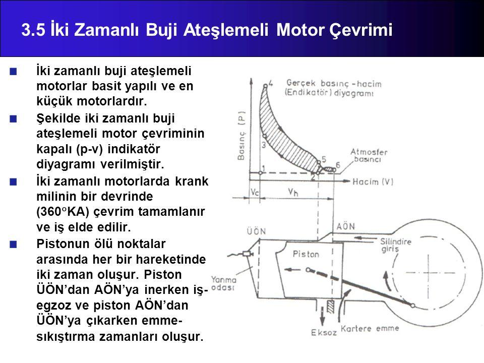 3.5 İki Zamanlı Buji Ateşlemeli Motor Çevrimi
