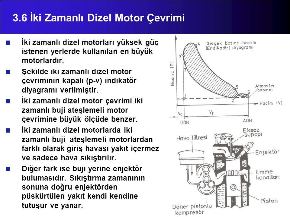 3.6 İki Zamanlı Dizel Motor Çevrimi