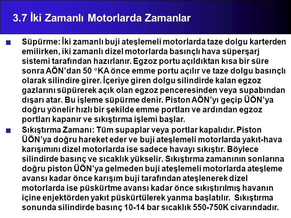 3.7 İki Zamanlı Motorlarda Zamanlar