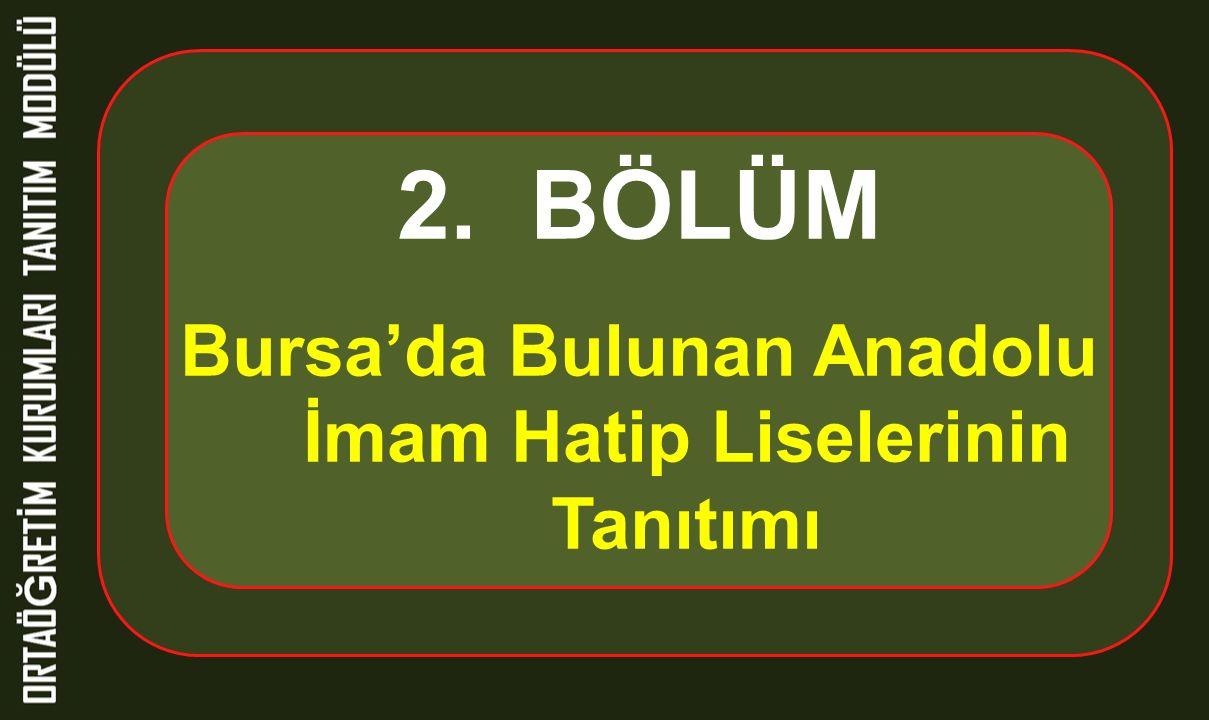 Bursa'da Bulunan Anadolu İmam Hatip Liselerinin Tanıtımı