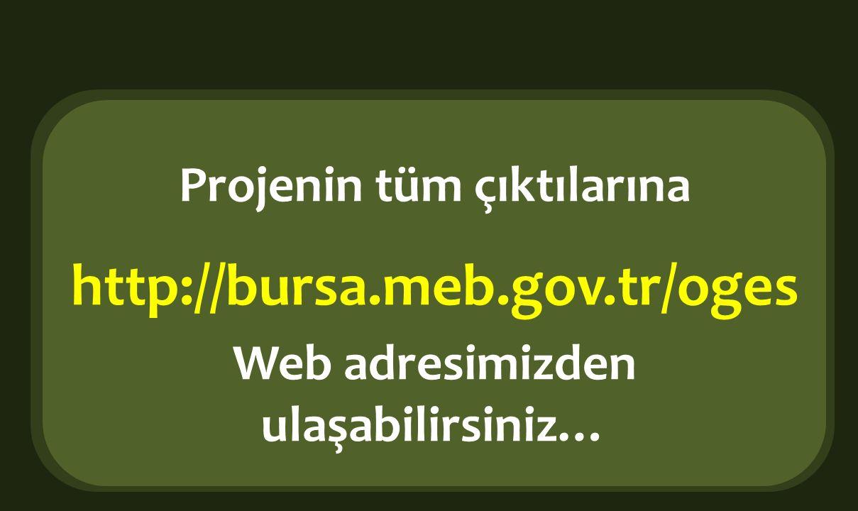 Projenin tüm çıktılarına Web adresimizden ulaşabilirsiniz…