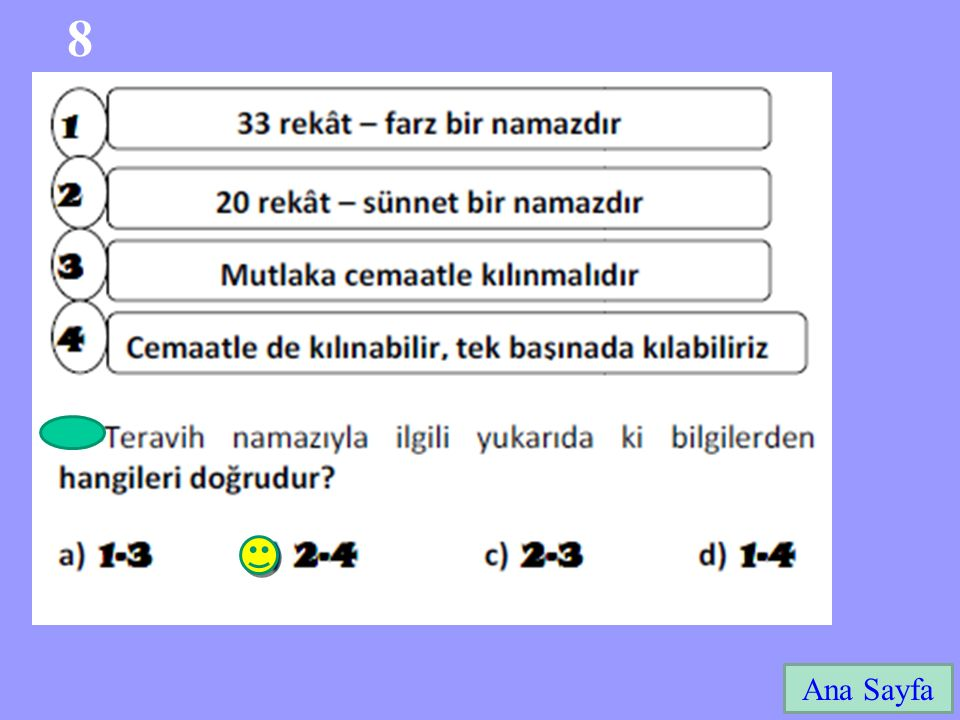 8 Ana Sayfa