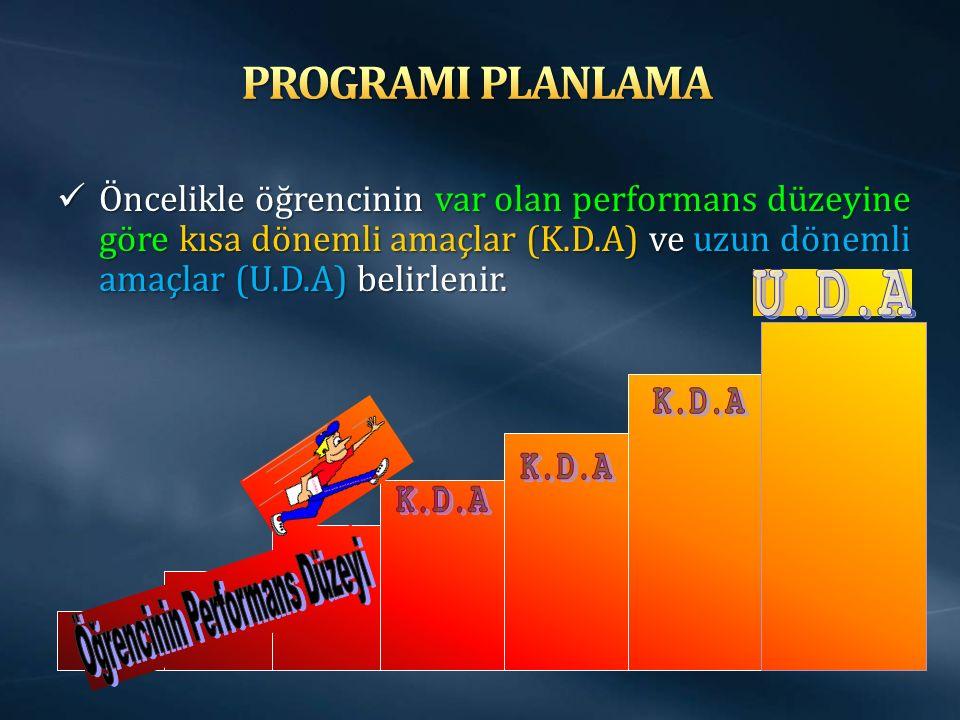 Öğrencinin Performans Düzeyi
