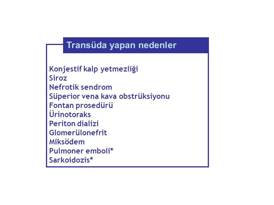 Transüda yapan nedenler