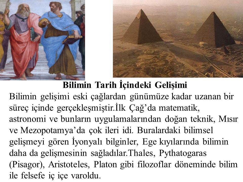 Bilimin Tarih İçindeki Gelişimi