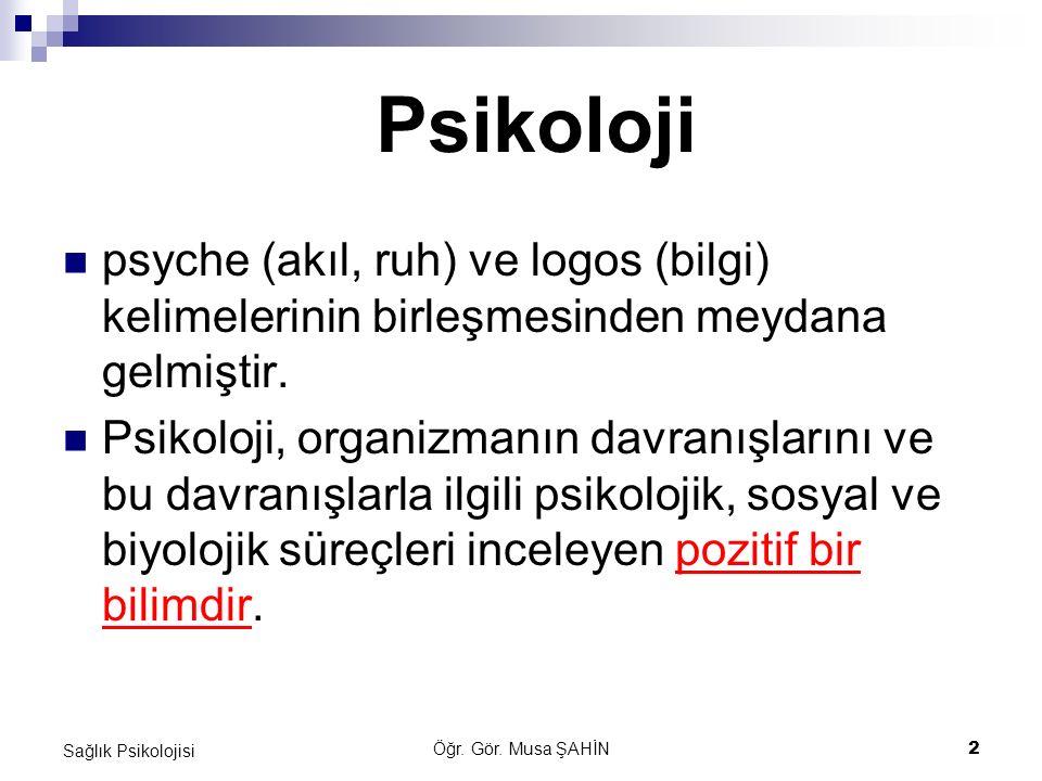 Psikoloji psyche (akıl, ruh) ve logos (bilgi) kelimelerinin birleşmesinden meydana gelmiştir.