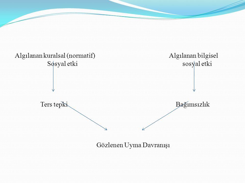 Algılanan kuralsal (normatif) Algılanan bilgisel